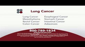 Sokolove Law TV Spot, 'Lung Cancer: Asbestos Exposure' - Thumbnail 2