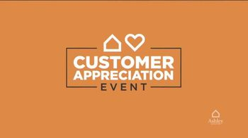 Ashley HomeStore Customer Appreciation Event TV Spot, 'BOGO: Sofas and Furniture Giveaway'