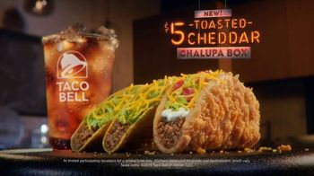 Taco Bell $5 Toasted Cheddar Chalupa Box TV Spot, 'Tastefully Curated'