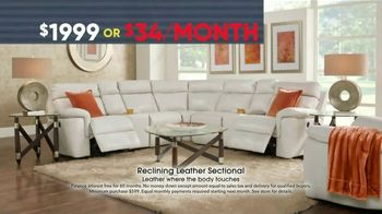 Rooms to Go Memorial Day Sale TV Spot, 'Reclining Leather Sectional' - Thumbnail 4