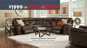Rooms to Go Memorial Day Sale TV Spot, 'Reclining Leather Sectional' - Thumbnail 5