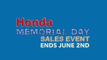 Honda Memorial Day Sales Event TV Spot, 'Smart Way to Go' [T2] - Thumbnail 6