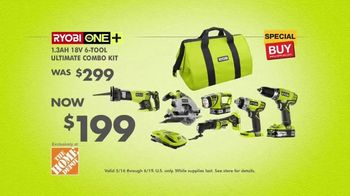 The Home Depot RYOBI Days TV Spot, 'ONE+ 6-Tool Combo Kit' - Thumbnail 8