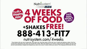 Nutrisystem for Men TV Spot, 'Four Weeks Plus Free Shakes' - Thumbnail 10