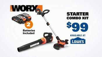 Worx GT Revolution TV Spot, 'Cordless Grass Trimmer: Lowe's' - Thumbnail 8