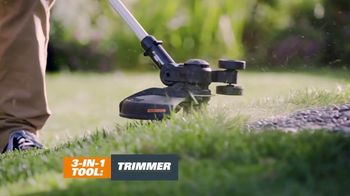 Worx GT Revolution TV Spot, 'Cordless Grass Trimmer: Lowe's' - Thumbnail 3