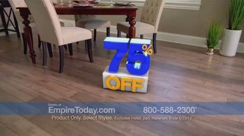 Empire Today 75 Percent Off Sale TV Spot, 'Update Your Floors' - Thumbnail 1