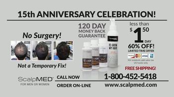 ScalpMED 15th Anniversary Celebration TV Spot, 'Are You Losing Your Hair?' - Thumbnail 8