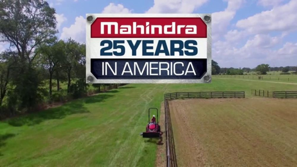 Mahindra 25 Years in America TV Commercial, 'The American Dream'