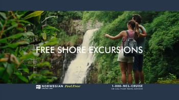 Norwegian Cruise Line Free at Sea TV Spot, 'Five Free Offers: New York: $469' Song by Andy Grammer - Thumbnail 4