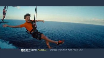 Norwegian Cruise Line Free at Sea TV Spot, 'Five Free Offers: New York: $469' Song by Andy Grammer - Thumbnail 7