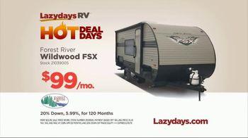 Lazydays Hot Deal Days TV Spot, 'Forest River Wildwood FSX' - Thumbnail 8