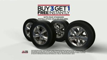 Tire Kingdom TV Spot, 'But Three, Get One Free and Rebate'