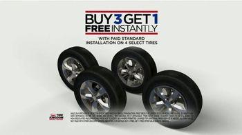 Tire Kingdom TV Spot, 'But Three, Get One Free and Rebate' - Thumbnail 3
