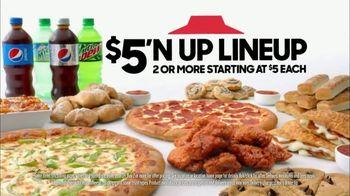 Pizza Hut $5'N Up Lineup TV Spot, 'Hut of the Week: Cowboys vs. Rams' - Thumbnail 8