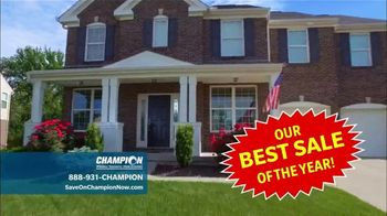 Champion Windows Best Sale of the Year TV Spot, '50% Off Windows: 35% Off Siding' - Thumbnail 1