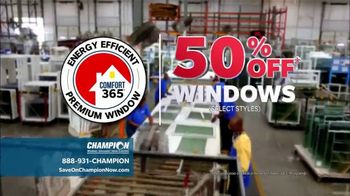 Champion Windows Best Sale of the Year TV Spot, '50% Off Windows: 35% Off Siding' - Thumbnail 2