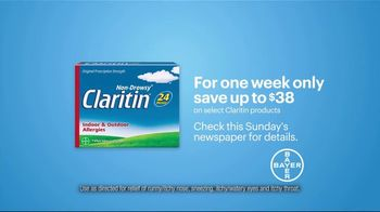 Claritin TV Spot,  'Feel the Clarity: Save $38' - Thumbnail 7