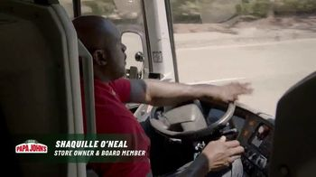 Papa John's TV Spot, 'A Better Day in the World' Featuring Shaquille O'Neal, Song by Bill Withers - Thumbnail 2