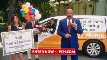 Publishers Clearing House TV Spot, 'Win $1,000 a Day for Life: My Line of Work' Feat. Steve Harvey - 73 commercial airings