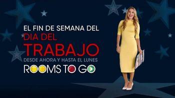Rooms to Go Venta del Día del Trabajo' TV Spot, 'Fin de semana' con Ximena Córdoba [Spanish] - Thumbnail 1