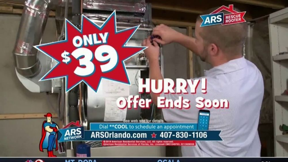 Ars Rescue Rooter Orlando Tv Commercial Annual Heating