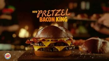Burger King Pretzel Bacon King TV Spot, 'Crowned With Pretzel Bun'