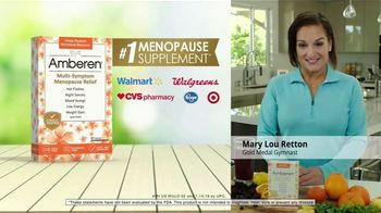 Amberen Menopause Relief TV Spot, \'Relieves Twelve Menopause Symptoms\' Featuring Mary Lou Retton
