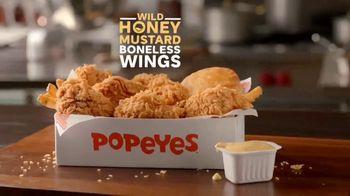 Popeyes Wild Honey Mustard Boneless Wings TV Spot, 'Dip Everything' - Thumbnail 2