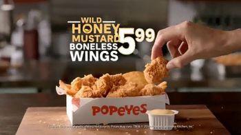 Popeyes Wild Honey Mustard Boneless Wings TV Spot, 'Dip Everything' - Thumbnail 8