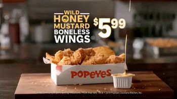 Popeyes Wild Honey Mustard Boneless Wings TV Spot, 'Dip Everything' - Thumbnail 9