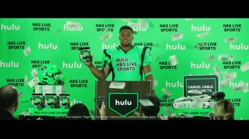Hulu TV Spot, 'Hulu Has Live Sports: The Video Game' Featuring Saquon Barkley