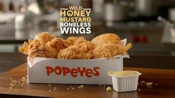 Popeyes Wild Honey Mustard Boneless Wings TV Spot, 'Sumergir todo' [Spanish] - Thumbnail 2