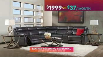 Rooms to Go TV Spot, 'July 4th Hot Buys: Leather Reclining Sectional' - Thumbnail 4