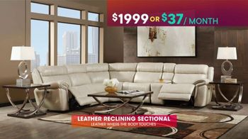 Rooms to Go TV Spot, 'July 4th Hot Buys: Leather Reclining Sectional' - Thumbnail 5