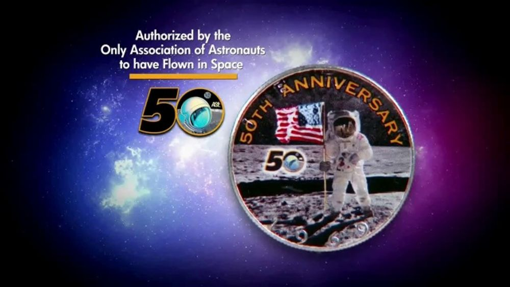 National Collector's Mint Apollo 11 Half Dollar TV Commercial, '50th Anniversary'
