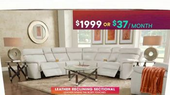 Rooms to Go TV Spot, 'July 4th Hot Buys: Reclining Leather Sectional' - Thumbnail 4