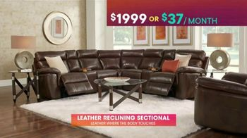 Rooms to Go TV Spot, 'July 4th Hot Buys: Reclining Leather Sectional' - Thumbnail 5