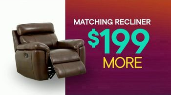 Rooms to Go TV Spot, 'July 4th Hot Buys: Reclining Leather Sectional' - Thumbnail 7