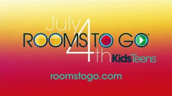 Rooms to Go Kids & Teens TV Spot, 'July 4th Hot Buys: Twin Bookcase Bed' - Thumbnail 7