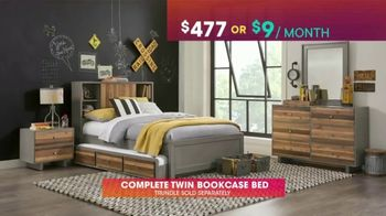 Rooms to Go Kids & Teens TV Spot, 'July 4th Hot Buys: Twin Bookcase Bed' - Thumbnail 4