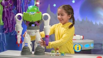 Imaginext Disney Pixar Toy Story 4 Buzz Lightyear Robot TV Spot, 'Trouble' - 1721 commercial airings