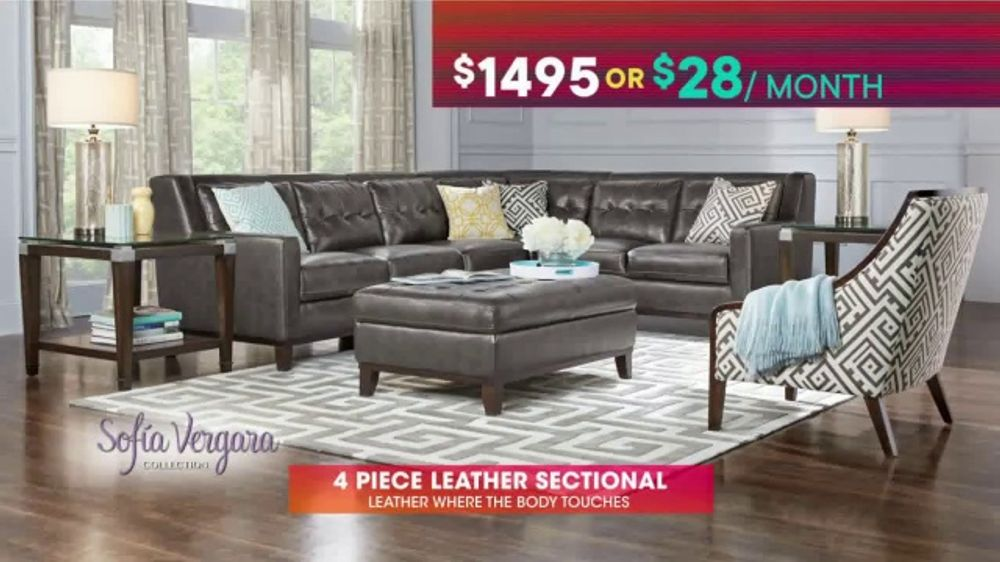 Astonishing Rooms To Go Tv Commercial July 4Th Hot Buys Sofia Vergara Leather Sectional Video Beatyapartments Chair Design Images Beatyapartmentscom