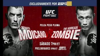 ESPN+ TV Spot, 'UFC Fight Night 154: Moicano vs. Zombie' [Spanish] - 126 commercial airings