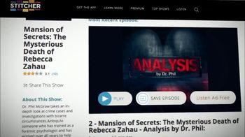 Analysis by Dr. Phil TV Spot, 'Mansion of Secrets: The Mysterious Death of Rebecca Zahau' - Thumbnail 9