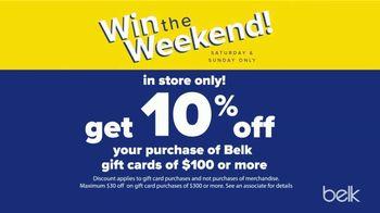 Belk Columbus Day Sale TV Spot, 'Win the Weekend' - Thumbnail 4