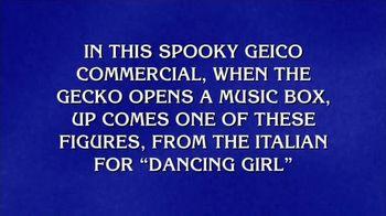 GEICO TV Spot, 'Jeopardy!: Spooky Music Box'