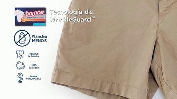 Bounce WrinkleGuard TV Spot, 'Primera mega hoja del mundo' [Spanish] - Thumbnail 5