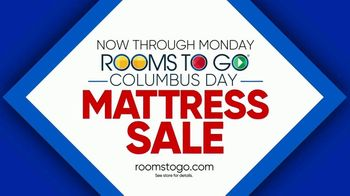 Rooms to Go Columbus Day Mattress Sale TV Spot, 'Four Great Brands' - Thumbnail 9