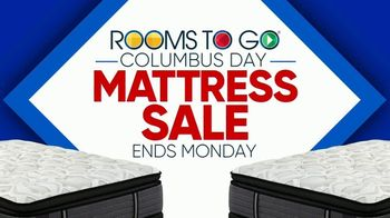Rooms to Go Columbus Day Mattress Sale TV Spot, 'Four Great Brands' - Thumbnail 1